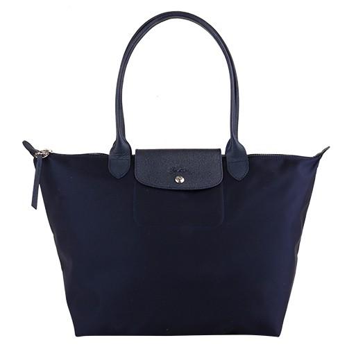 LONGCHAMP- Le Pliage Neo長提把肩背水餃包(海軍藍)L