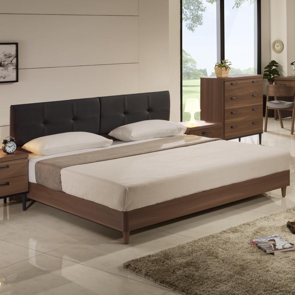 床頭片 5尺 6尺 床底 淺胡桃 工業風床頭箱 床底 YD米恩居家生活