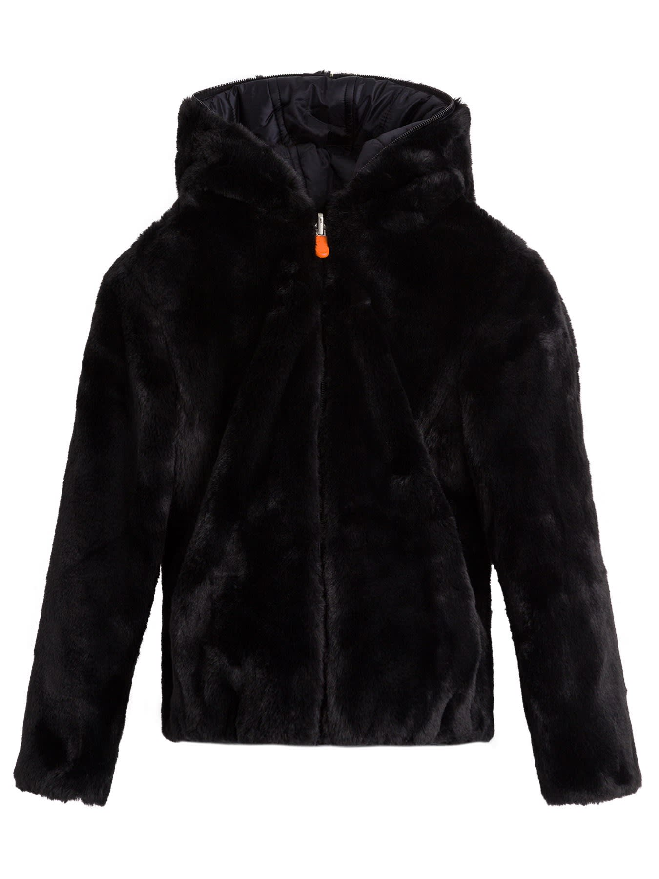 Save the Duck Puffer Coat In Ecological Fur