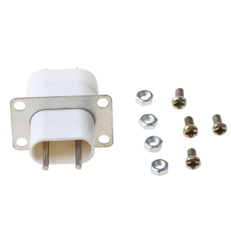 家用電子微波爐磁控管燈絲4針插座轉換器白色