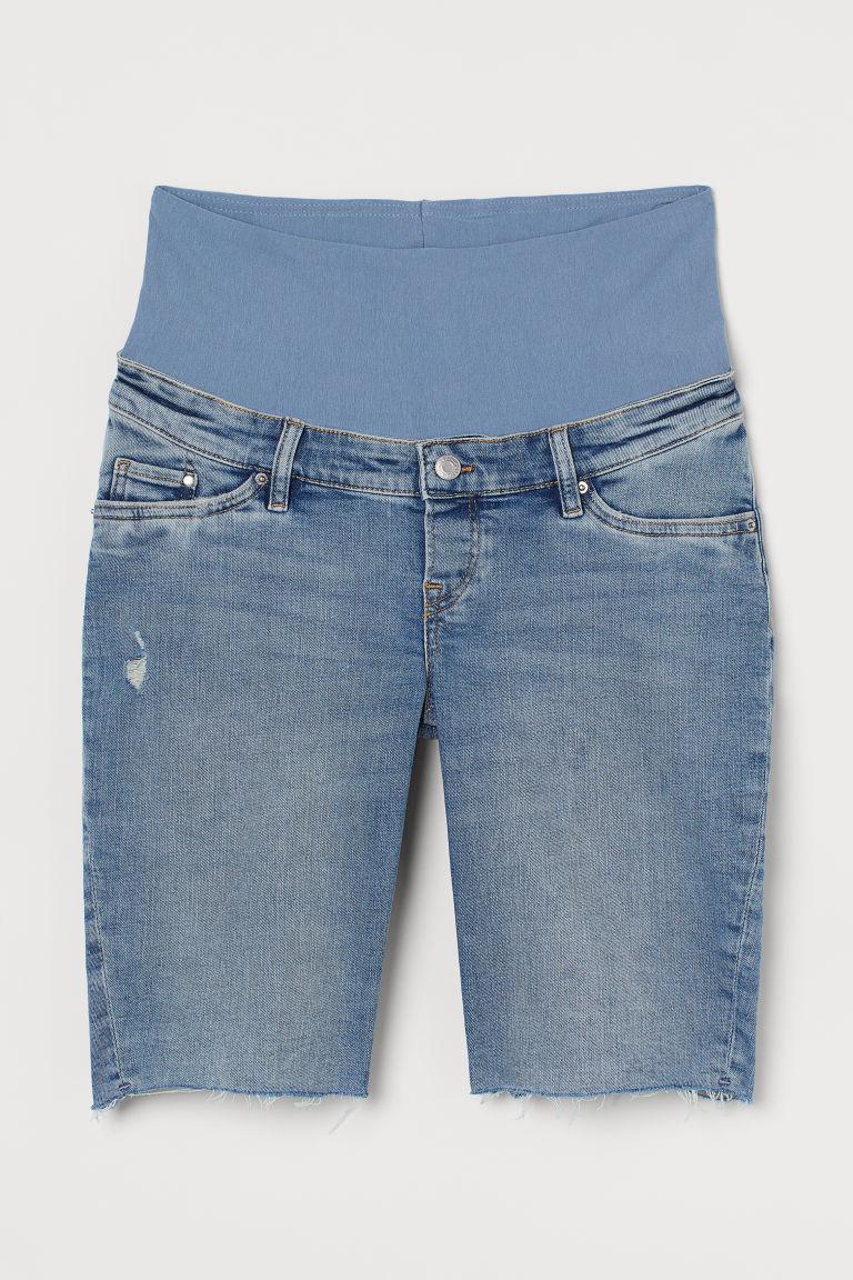 H & M - MAMA 丹寧百慕達短褲 - 藍色