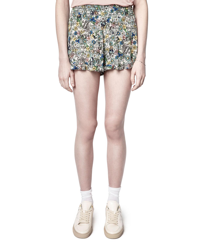 Sophie Crinkle Flower Shorts