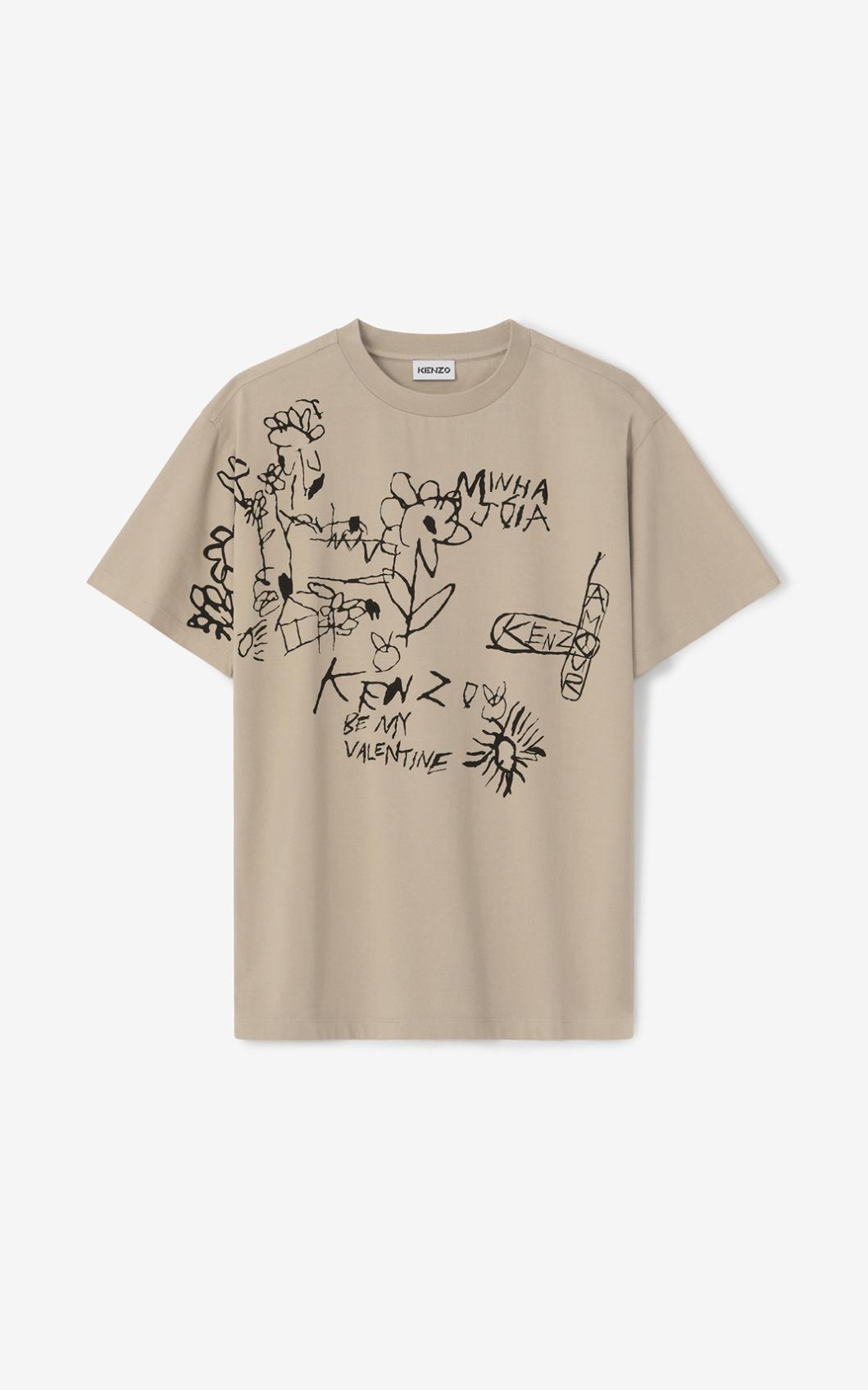 KENZO T-shirt oversize 'Valentine's flowers' Capsule Saint Valentin