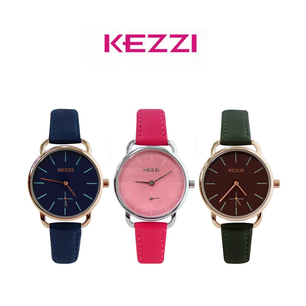 KEZZI珂紫 K-1675 雜誌款簡約刻度小秒設計皮帶錶