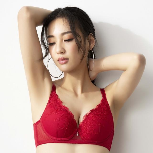 【SAVVY莎薇】繁花粉水 BC70-85罩杯內衣(繁花紅) 俏迷/粉水-AB3515RB