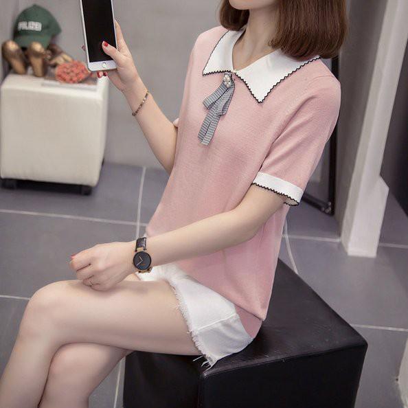 上衣 針織衫 短袖XL-4XL中大尺碼 冰絲針織小衫R11.1051胖胖美依