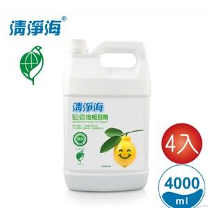清淨海 環保地板清潔劑4000g(4入)