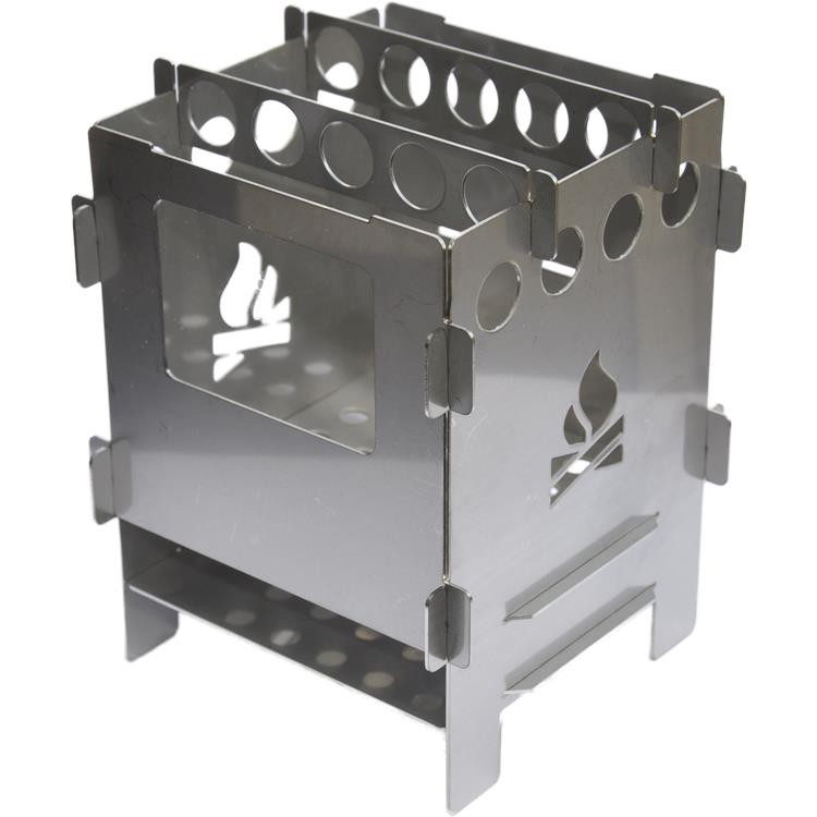 Bushcraft essentials Bushbox 不鏽鋼口袋柴爐 德國製 275g BCE-001