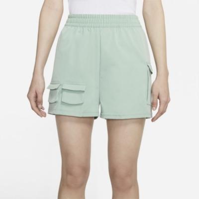 Nike NSW SWSH SHORT WVN HR 女運動短褲 綠-CZ9382006