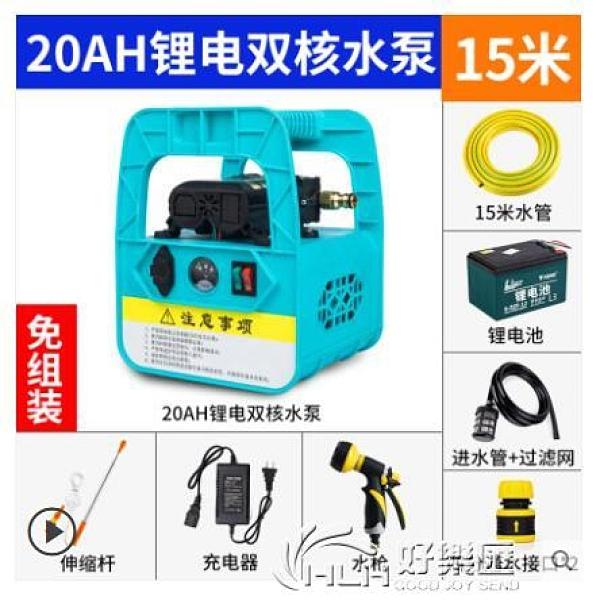 小型充電式抽水泵菜地澆水澆菜神器農用灌溉家用戶外電動打藥機 好樂匯