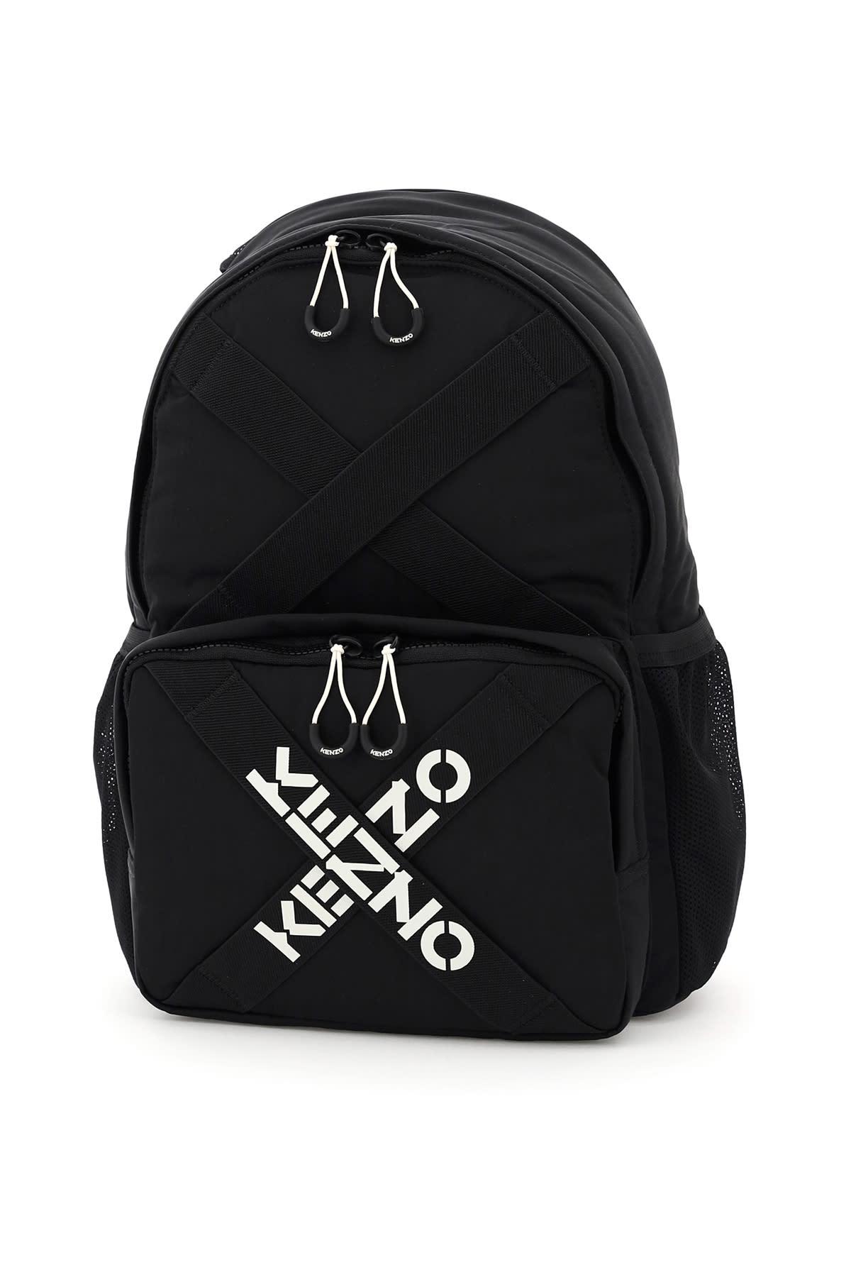 Kenzo Cross Logo Nylon Backpack