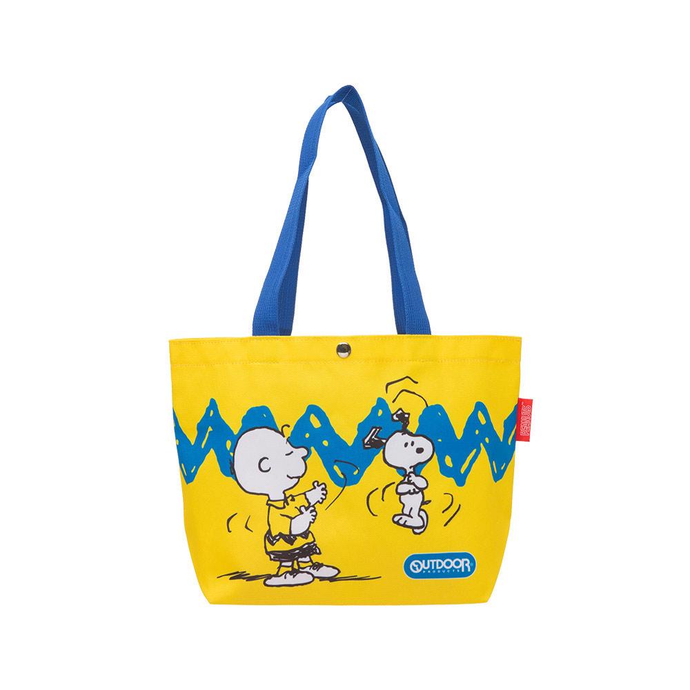 【OUTDOOR】SNOOPY聯名款購物袋-史努比與查理布朗 ODP21B01YL
