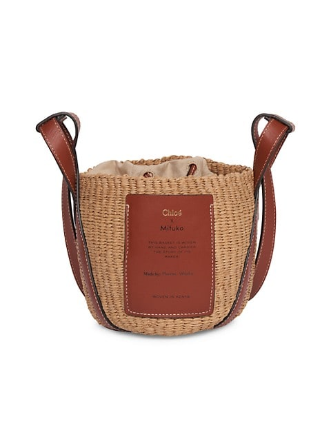 Small Basket Woven Crossbody Bag