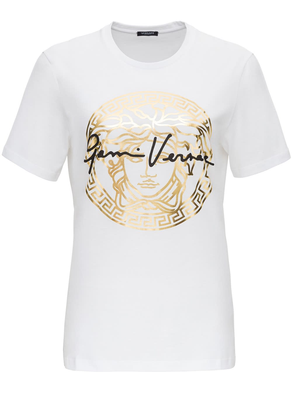 Versace T-shirt With Logo Print