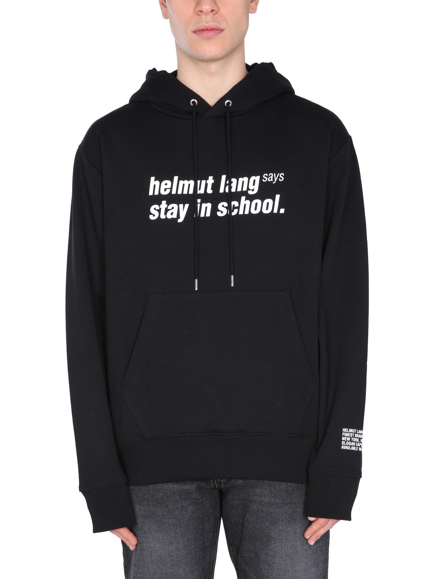 "helmut lang ""school"" sweatshirt"