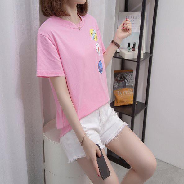 上衣 T恤 中大尺碼L-4XL中大尺碼女裝韓版寬鬆大碼女裝百搭上衣R037.1340胖胖美依