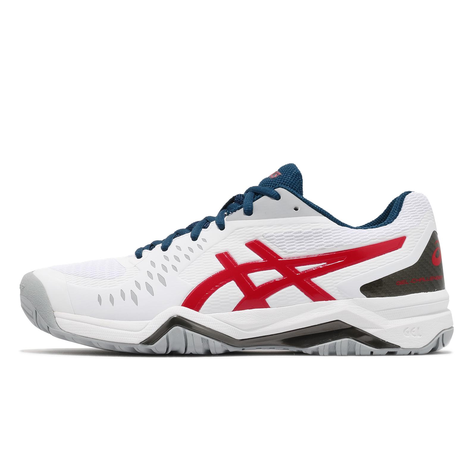 Asics 網球鞋 Gel-Challenger 12 男鞋 紅 白 藍 亞瑟士 【ACS】 1041A045-117