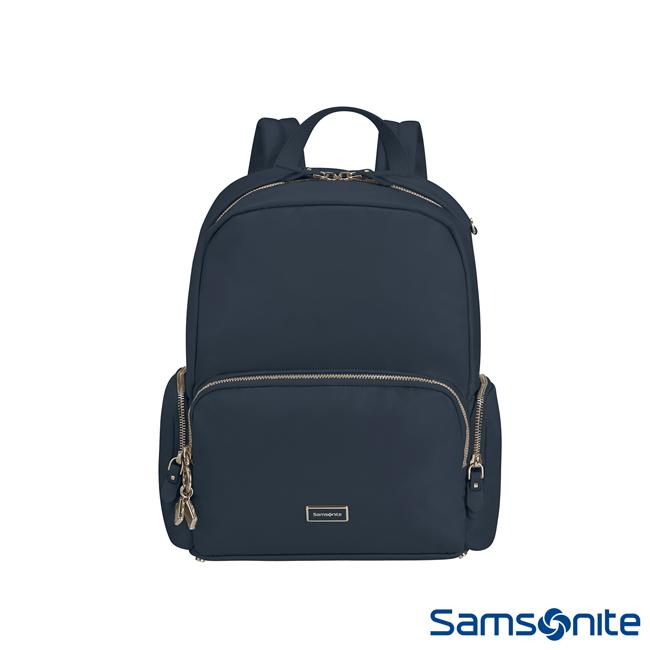 Samsonite新秀麗 Karissa2.0簡約輕商務女性後背包(藍)