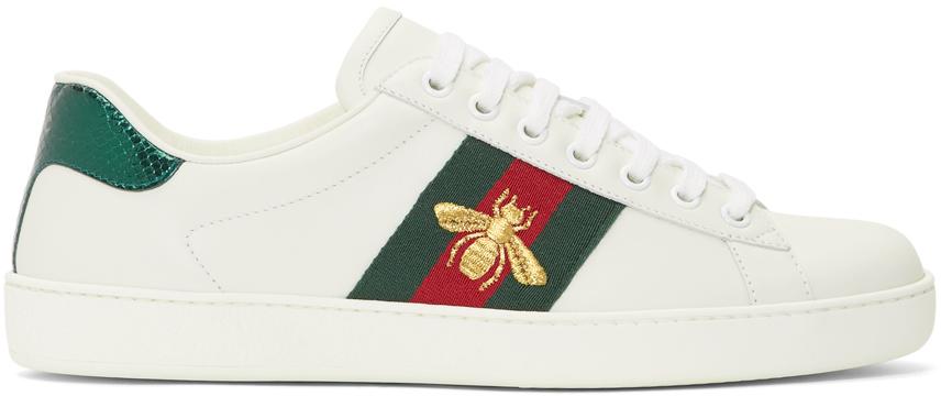 Gucci 白色 New Ace 运动鞋