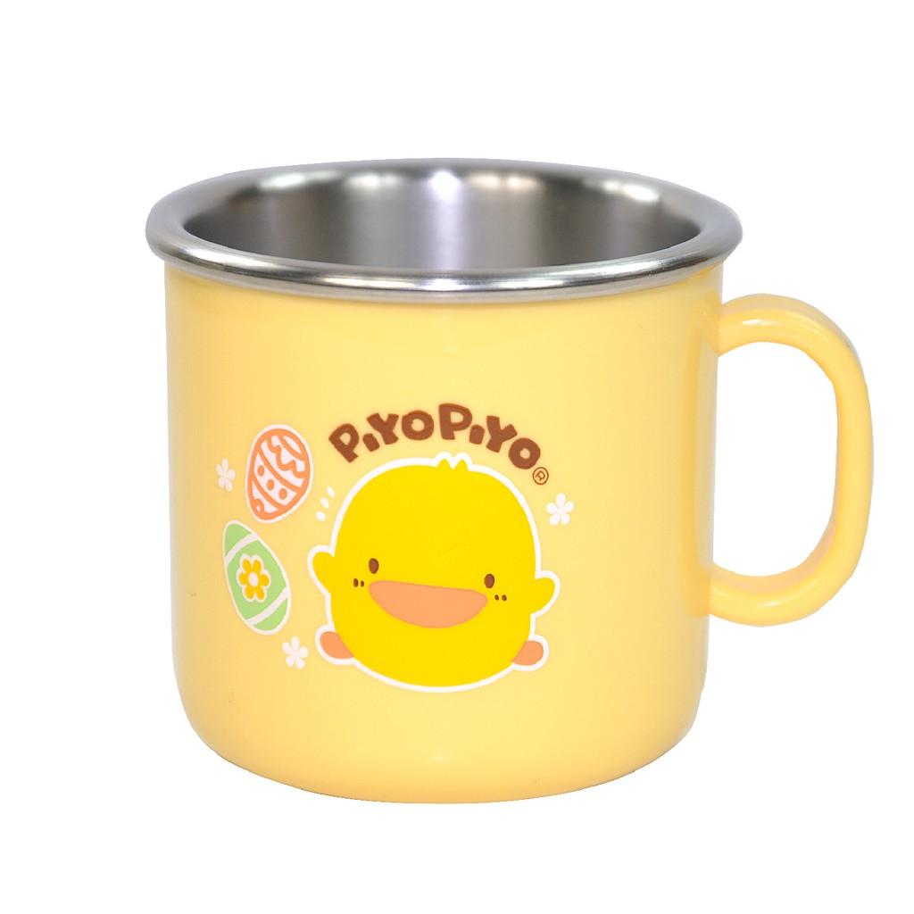 Piyo Piyo 黃色小鴨不鏽鋼隔熱單耳杯180ML GT-63139內層SUS 304不鏽鋼材質,耐高溫