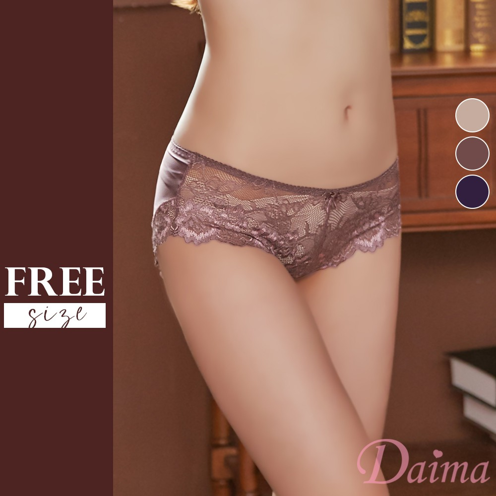 【黛瑪Daima】台灣製/MIT 左岸時光蕾絲內褲 多色可選 FREE(T7208)