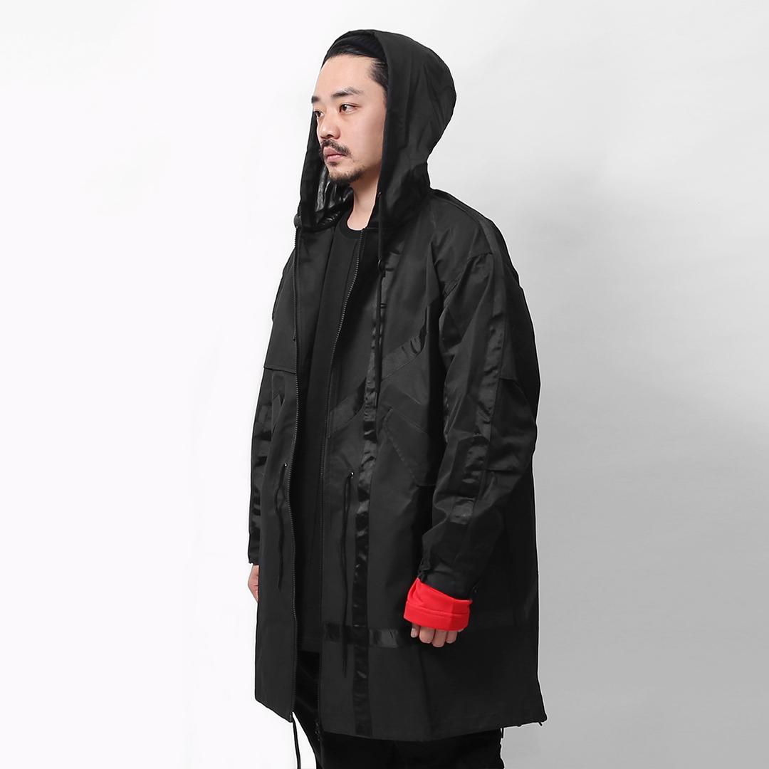 【ionism】織帶魚尾外套黑