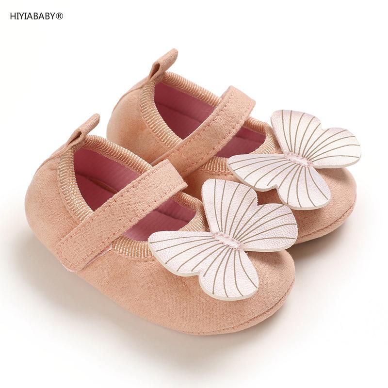 春秋女寶寶0-1歲公主鞋膠底防滑嬰兒學步鞋蝴蝶結公主鞋
