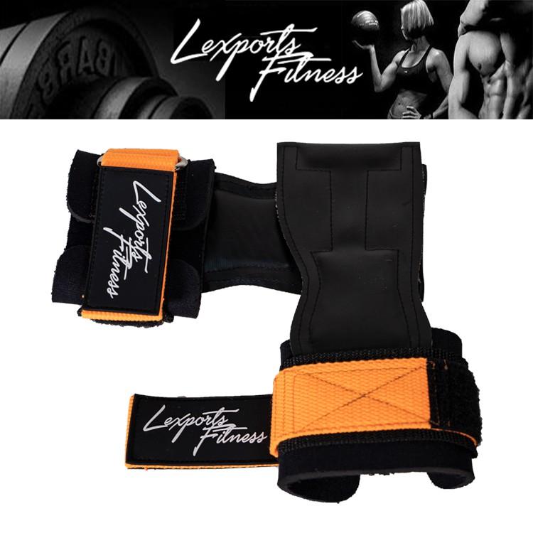 LEXPORTS 勵動風潮/ 專業重訓健身拉力帶/ Power Gripps FIT /皮革拉力帶 - 經典原色