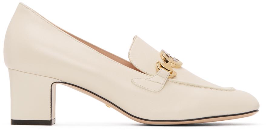 Gucci 白色 Zumi 中跟乐福鞋