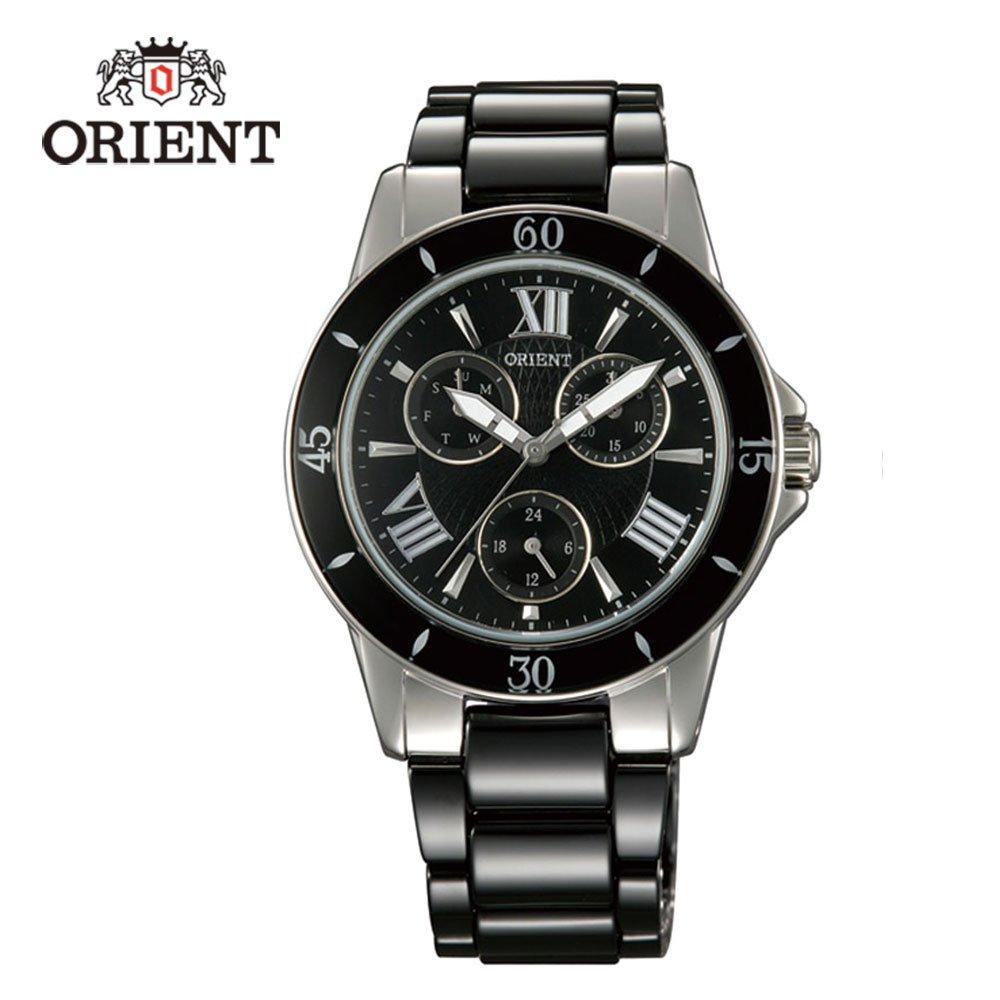 ORIENT 東方錶 CASUAL系列 完美情人時尚陶瓷腕錶 FUT0F004B 黑色 - 38mm