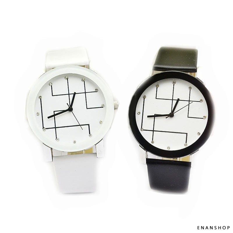 水鑽連線手錶 韓版流行 手錶 女錶 男錶 情侶對錶 惡南宅急店【0549F】