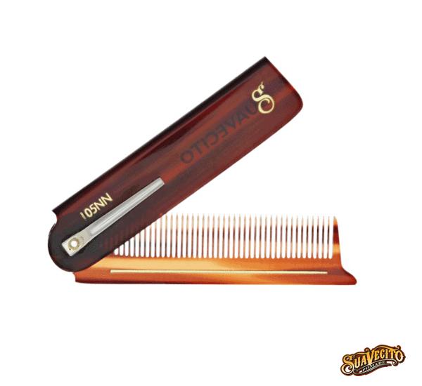 Suavecito Deluxe Amber Folding Comb琥珀板料口袋折梳
