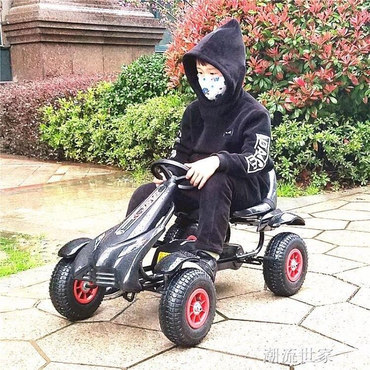 兒童卡丁車四輪腳踏運動汽車小孩可坐男女寶寶益智玩具健身自行車MBS