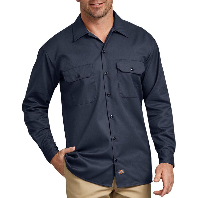 【DICKIES】美線 574 經典長袖 工作襯衫 (深藍 DN)