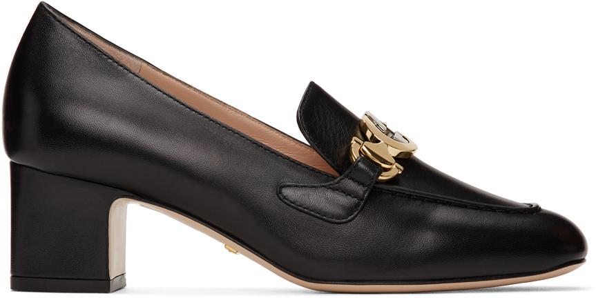 Gucci 黑色 Zumi 中跟乐福鞋