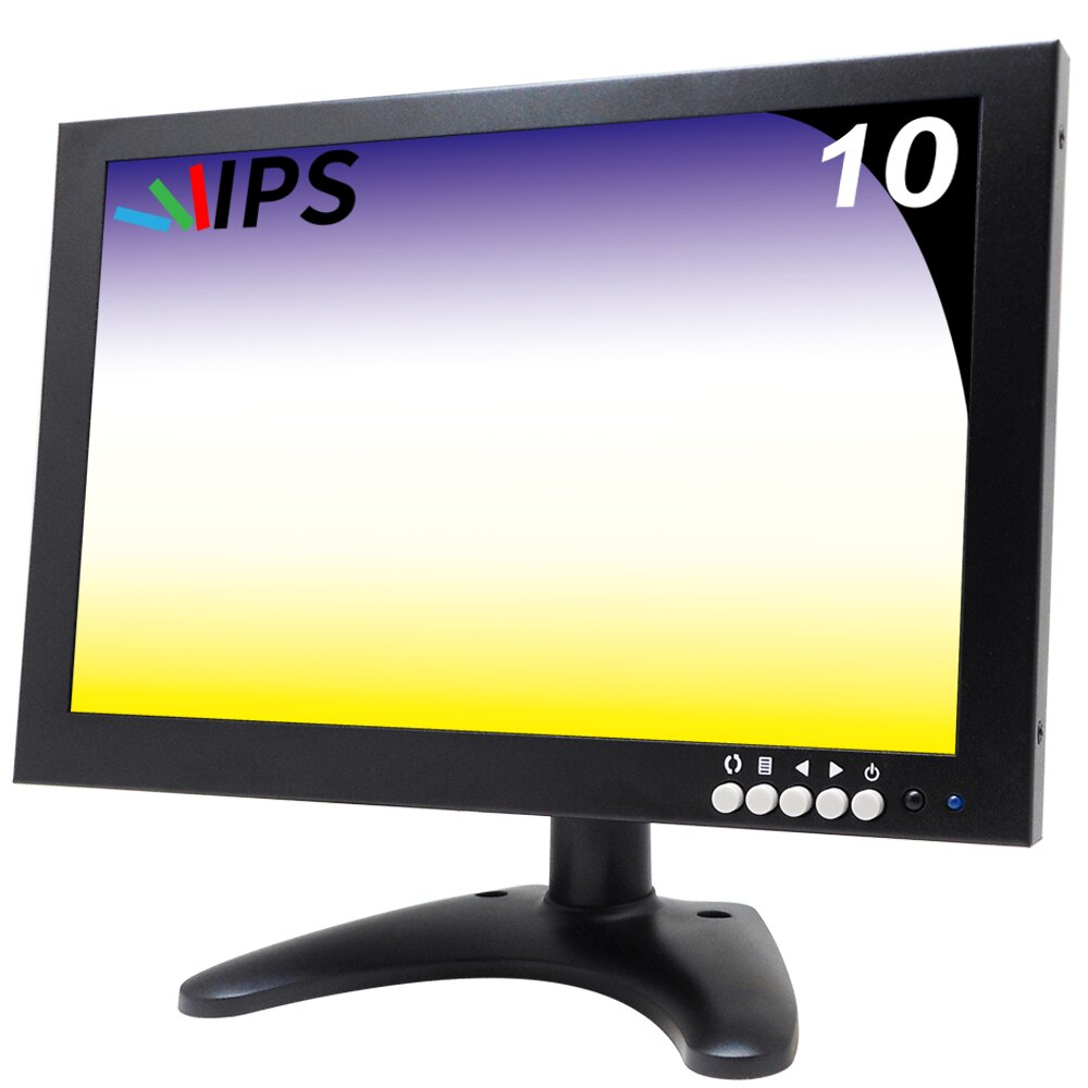 【CHICHIAU】10吋多功能IPS LED寬螢幕液晶顯示器(1280*800) 101IPSN型