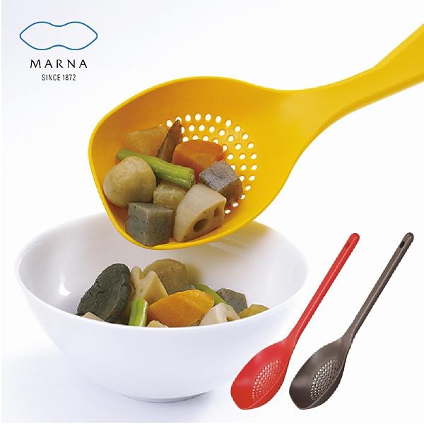 【MARNA】日本進口大濾網湯杓(三色任選)