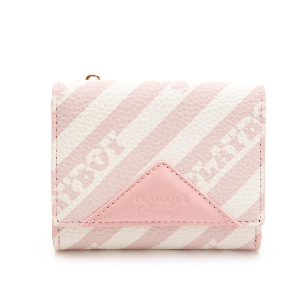 PLAYBOY-  名片夾附零錢袋 粉潮流系列 -粉色(501-4615-12-2)