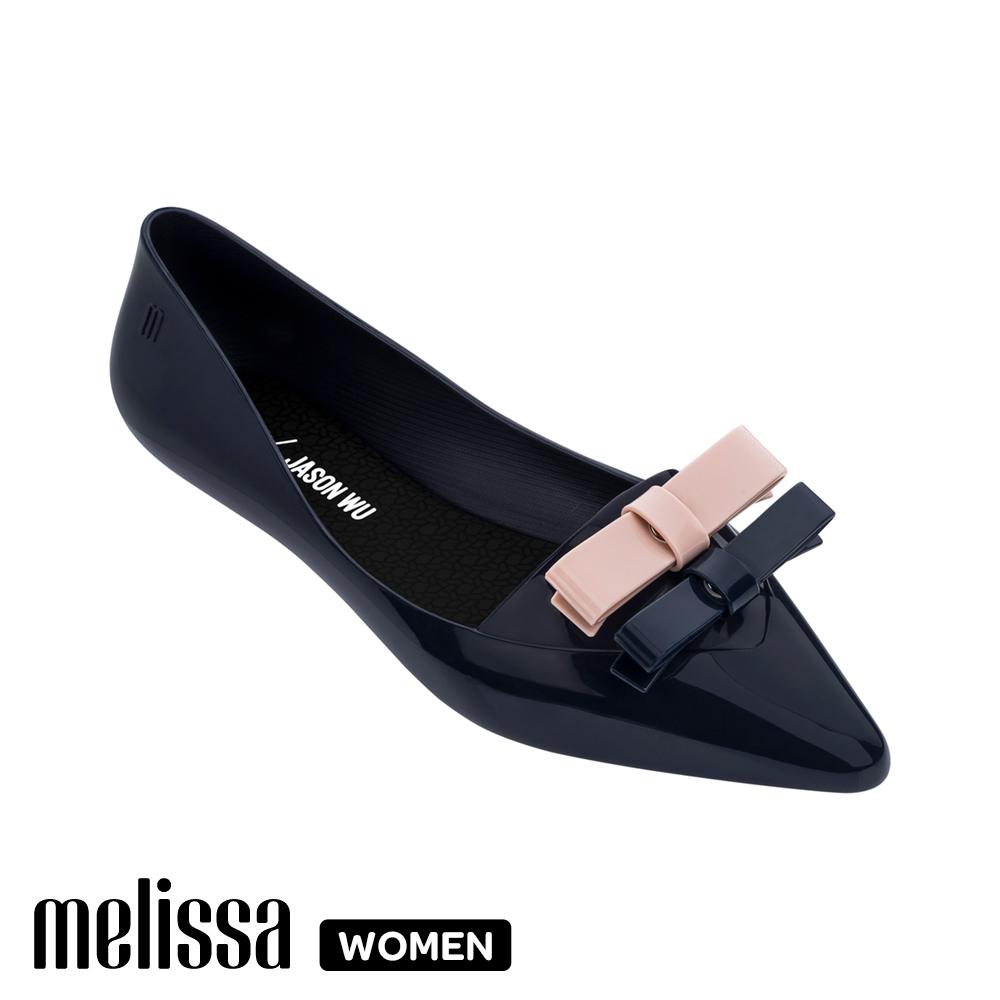 【Women】 Melissa x 吳季剛聯名 尖頭平底鞋 深藍  (MA50-32740 10)
