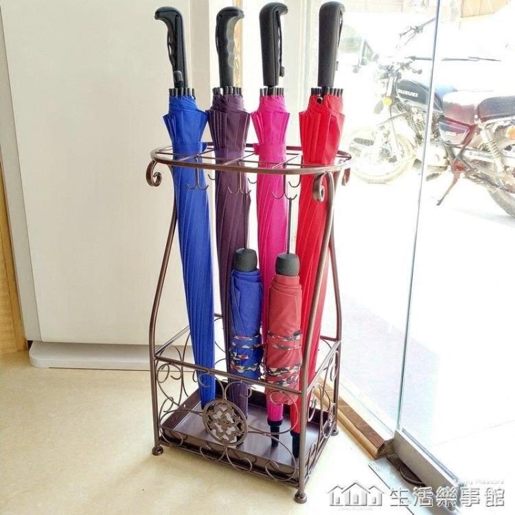 雨傘架酒店大堂家用鐵藝傘筒雨傘桶收納桶落地式放摺疊傘架子NMS