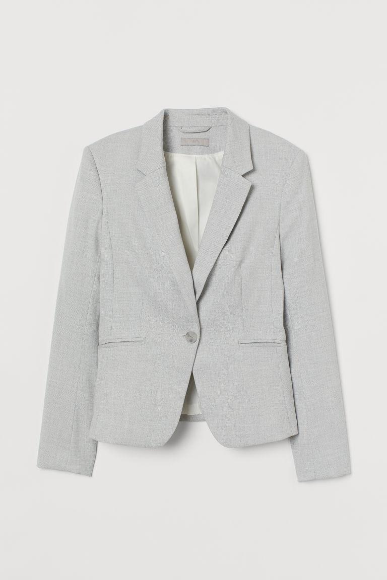 H & M - 合身外套 - 灰色