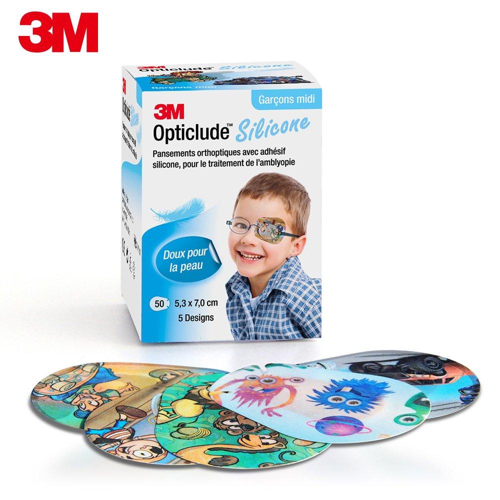 3M 2738PB 矽膠護眼貼設計款 (男孩/中尺寸)
