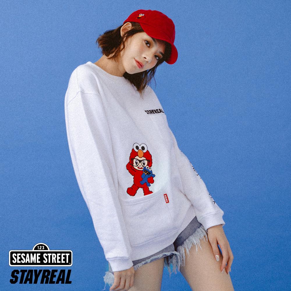 STAYREAL x 芝麻街 Elmo鼠小小變裝厚棉T