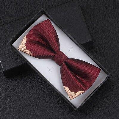 金屬角 時尚男女 酒紅藏青深藍黑色 新郎伴郎結婚禮服 蝴蝶結領結『xxs18672』