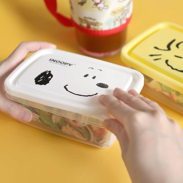 【Snoopy史努比大臉保鮮盒】Norns 450ml 正版授權 便當餐盒 水果盒 透明收納盒 胡士托 糊塗塌客 小黃鳥