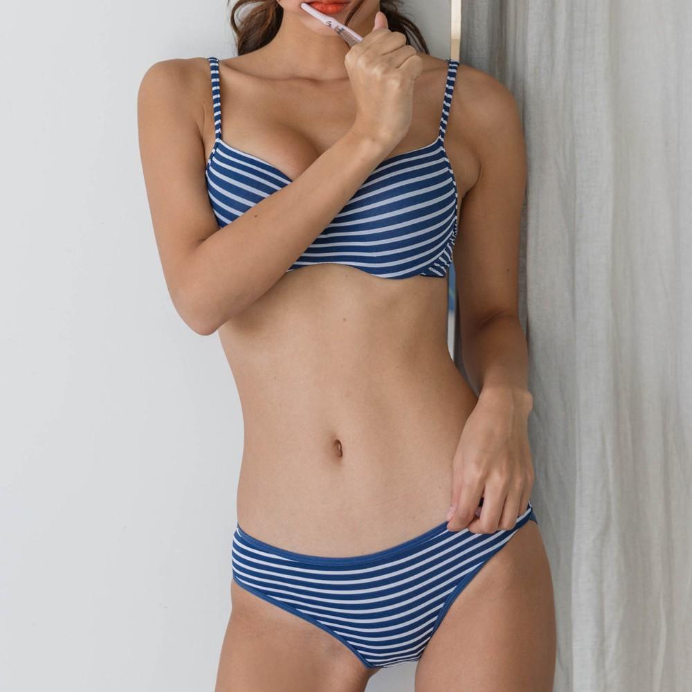 DOROSIWA 假日套裝高級豐胸胸罩 (海軍藍色 / 灰色)