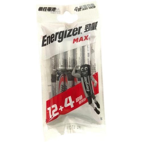 勁量 鹼性電池 4號(12+4入)[大買家]