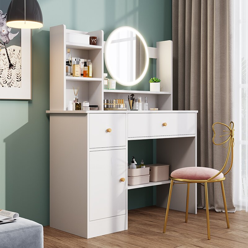 梳妝台收納柜一體小戶型化妝台臥室小型現代簡約化妝桌
