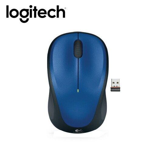 【logitech 羅技】M235 無線滑鼠 藍【三井3C】