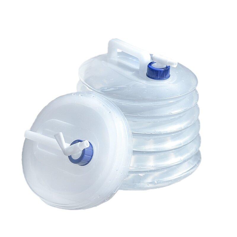 【台灣現貨】15L大容量伸縮水桶 食品級PE儲水袋 便攜摺疊手提飲水袋 蓄水袋蓄水桶【HC050】99750走走去旅行
